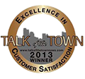Titan Contrators winners of 2013 Talk of the Town Customer Satisfaction Award